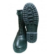 Ботинки зимние Спецназ с высокими берцами на натуральном меху хромовые на молнии