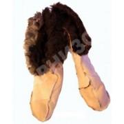 Носки меховые дубленые белого цвета