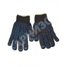 Перчатки черные с ПВХ (10 шт.)