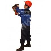 Костюм летний рабочий Мастер темно-синий с васильком