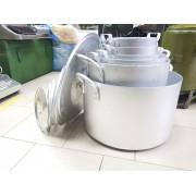 Кастрюля алюминиевая с крышкой (от 5 до 50 литров)