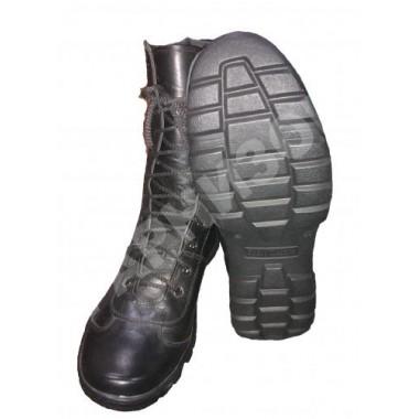 Ботинки Спецназ с высокими берцами хромовые на молнии