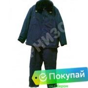 Костюм лётный меховой (куртка+ полукомбинезон) синего цвета