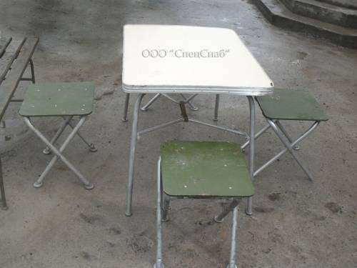 стол и стулья армейский полевой фото сайт